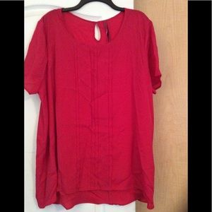Pure energy-Red color women top plus size 4(3X)